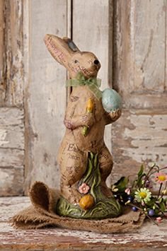 Decorative rabbit with colored eggs