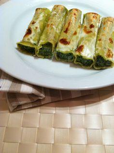 #Canelones de #ricotta y espinacas. #Pasta. #Recetas italianas. #cocina. #italian #food. #platos