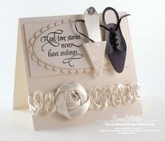 Amazing Paper Grace: Lovely wedding card.  Love the shoes!
