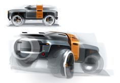 Land Rover 2025 Defender Survior by Xiaodi Yang Car Design Sketch, Truck Design, Car Sketch, New Defender, Car Chair, Tata Motors, Star Trek Ships, Transportation Design, Armored Vehicles