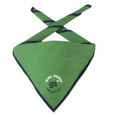 Official Girl Scout Volunteer Scarf   Girl Scout Shop Girl Scout Uniform, Girl Scout Leader, Girl Scouts, Foulard Scout, Girl Scout Shop, Volunteer Appreciation, Triangle Scarf, Sew On Patches, Screen Printing