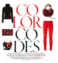 black n red by cheyenne-de-jongh on Polyvore featuring polyvore fashion style Exclusive for Intermix Love Moschino Yves Saint Laurent Dolce&Gabbana clothing