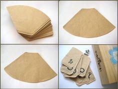 zakjes van koffiefilters maken
