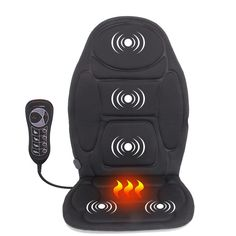 Portable Electric Back Massager Chair Cushion Vibrator Car Home Office Neck Seat Pads, Chair Pads, Chair Cushions, Back Massager, Backpack Bags, Electric, Relax, Car, Full Body