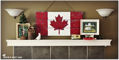 Crow's Feet Chic: Gearing Up for Canada Day! Canada Flag out of old boards Canada Day Flag, Canada Day Shirts, Canada Day Party, Canada Eh, Canada Day Crafts, Diy Canada Day Decor, Canada Holiday, Crafts For Kids, Diy Crafts
