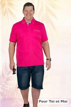 Polo grande taille homme stylisé pour un été haut en couleurs. #fashion #hommegrandetaille #polo #short Bermuda, Polo Shirt, Polo Ralph Lauren, Boutique, Shorts, Mens Tops, Collection, Style, Fashion