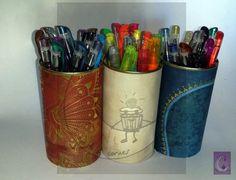 Porta lápices decorados. 5€ la unidad