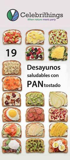 Ponle sabor a tu desayuno! 19 desayunos con pan tostado saludables.