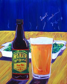 Beer Painting of Hop Dish IPA by Lift Bridge Brewing Co. Year of Beer Paintings - Day 249.