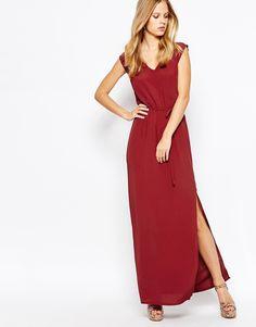Image 1 ofMinimum Sleeveless Maxi Dress With Tie Waist
