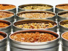Deluxe BBQ Dry Rub Sampler - 12 gourmet cooking / grilling spice blends - includes bacon / hickory / steak rubs - DIY culinary