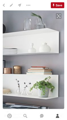 6 Discerning Simple Ideas: Floating Shelf With Hooks Mud Rooms floating shelves tv stand ikea hacks.Floating Shelves Over Bed Bedrooms rustic floating shelf kitchen.Floating Shelves For Tv Photo Displays. Floating Shelves Bedroom, Floating Bookshelves, Floating Shelves Kitchen, Ikea Kitchen Shelves, Bookshelves Ikea, Floating Wall, Sweet Home, Shelf Design, Wall Design