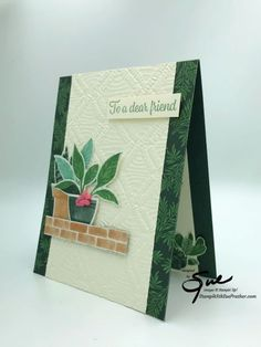 Bloom Where Youre Planted, Stampin Up Catalog, Stamping Up Cards, Card Tags, Flower Cards, Making Ideas, Cardmaking, Birthday Cards, Paper Crafts