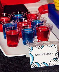 captain america party food - Google Search #jello #blue #red