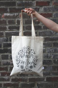 Feminism Is Freedom TOTE BAG