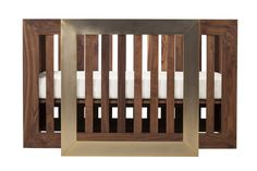 Nurseryworks Lydian Crib in Walnut Finish with 24k Gold