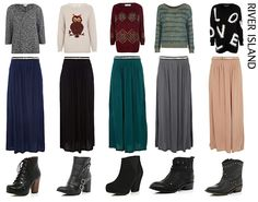 maxi skirts and sweater with boots : maxi skirts and sweater with boots Modest Dresses, Modest Outfits, Modest Fashion, Girl Outfits, Fashion Outfits, Skirt Fashion, Maxi Skirt Winter, Winter Skirt Outfit, Skirts With Boots