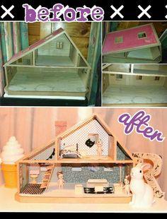 Sawdust & Sunscreen : Out of 1985 and into 2015 - a Sylvanian house refurb.On the blog tonight: My 1985 Sylvanian house update http://sawdustandsunscreen.blogspot.co.nz/2015/10/out-of-1985-and-into-2015-sylvanian.html#.VhjtFSuUdbJ  kidsinteriordesign dollshouse craft diy modgepodge felt sonnyangels refurb sylvanians kidsrooms