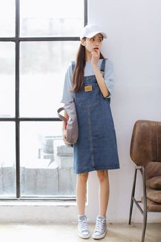 Kawaii Clothes, Korean Outfits, Jean Skirt, Korean Fashion, Summer Outfits, Poses, Fashion Outfits, Denim, Skirts