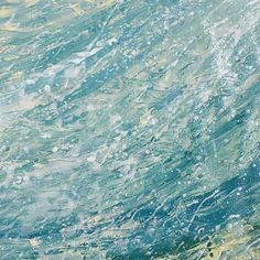 Beautifully layered sea blues with cream and white. This is part of a series of nine.