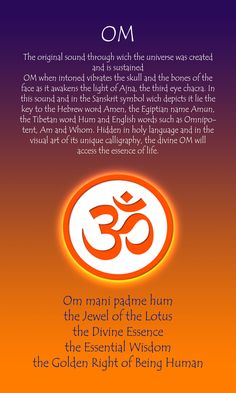 OM - The eternal syllable.