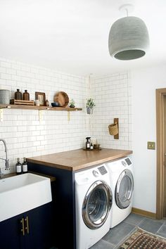 waschküche in nahtlosem und leicht rustikales design