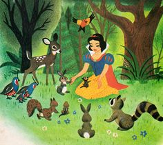 Walt Disney's Snow White and the Seven Dwarfs - illustrations by the Walt Disney Studio, adapted by Campbell Grant, story adapted by Jan Werner (1952).