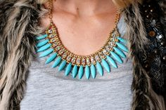 Naomi Necklace amodernboutique.com #statement #jewelry #fashion