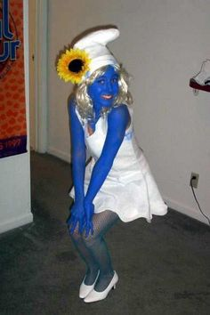 Dress up as smurfette coloring