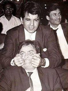 with DILIP KUMAR AND DEV ANAND