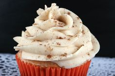 Spice up your frosted desserts with this delicious Cinnamon Buttercream Frosting. It is so easy to make and tastes sweet, spicy and amazing! Cupcake Frosting, Buttercream Frosting, Icing, The Cake Mix Doctor, Yummy Treats, Sweet Treats, Cake Cookies, Cupcakes, Spice Cake Recipes