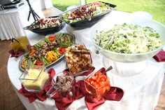 Salad Bar options  www.ASilverware Affair.net  A Silverware Affair Catering
