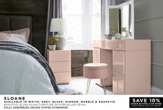 Next day delivery & free returns available. Home Bedroom, Bedroom Furniture, Corner Dressing Table, Cute Room Decor, Small House Design, Home Decor Inspiration, Luxury, Room Ideas, House Ideas