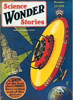 Science Wonder Stories, November YYYY cover by Frank R. Paul