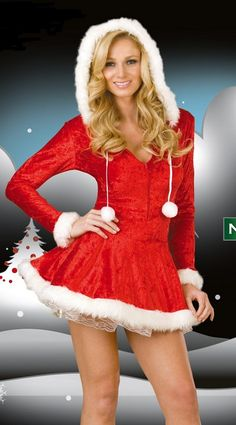 Festival Red Sexy Women Christmas Costumes Ladies Bustier