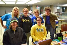 Phi Theta Kappa Honor Society volunteers Anthony Hinders, Sharon Olivares, Teresa Hitch, Ethan Risner, Cora Thomas & Zoe Mornhinweg. — at Sinclair Community College.