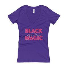 Black Girl Magic Women's V-Neck T-shirt