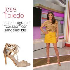 Ya son varias ocasiones en las que Mª José Toledo utiliza nuestras sandalias étnicas en sus looks televisivos