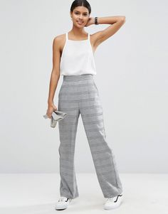 Check Printed Trousers