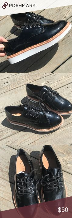 Free People Vegan Leather Platform Oxfords New never worn 🌟 Vegan leather  Size 7 Free People Shoes Sneakers