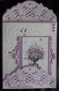 Anja Vintage decoration die cards / WOW...putting dies & embossing folders to work