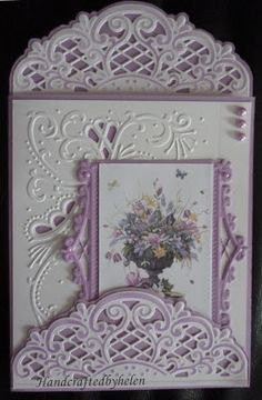 Anja Vintage decoration die cards / WOW...putting dies & embossing folders to work