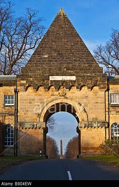The Gate House Castle Howard near Malton North Yorkshire Designed by Vanbrugh in 1719 Stock Photo