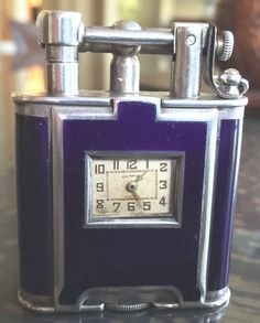 Dunhill Eggplant Enamel B Size Watch Lighter with pillowed decoration