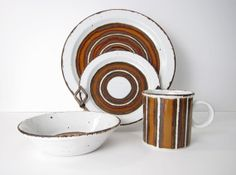 Earth Stonehenge Midwinter Service for 6  Plates by ObjectOfBeauty, $154.00