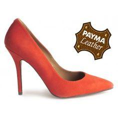 Stiletto ante naranja 49,90€  www.calzadospayma.com