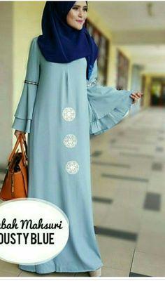 C dan anggun model simpel Abaya Style, Hijab Style, Hijab Chic, Abaya Fashion, Fashion Wear, Modest Fashion, Fashion Dresses, Moslem Fashion, Modele Hijab