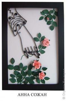 Картина, панно Бумагопластика, Квиллинг: Как хороши,прекрасны были розы Бумага. Фото 9