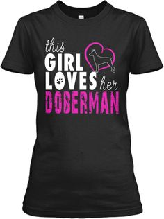 Girl Loves Her Doberman!
