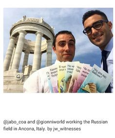 Preaching Russian in Italy.  Pic from jw-archive
